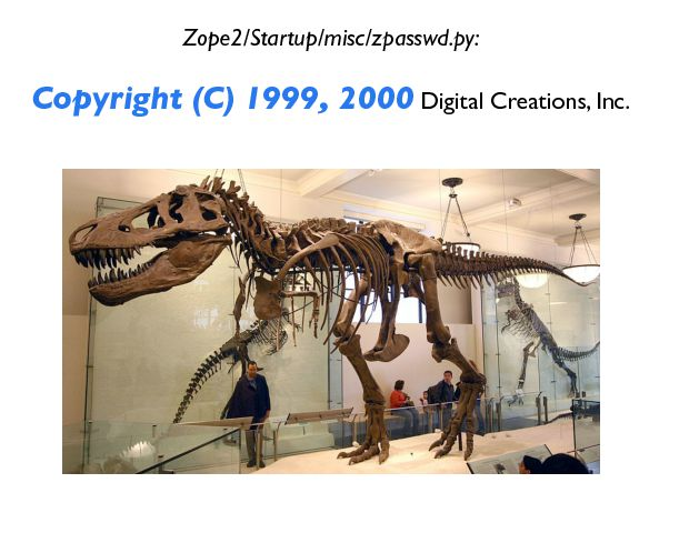 Zope2/Startup/misc/zpasswd.py: Copyright (C) 1999, 2000  Digital Creations, Inc.